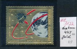 Gabun  Nr. 445   ** Goldfolie   (ed3122  ) siehe scan