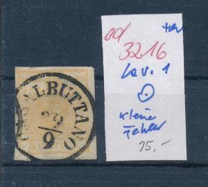 Österreich Lev. Nr. 1 kleine Fehler  o   (ed3216  ) siehe scan