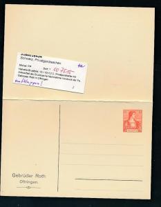 Schweiz  Privat Ganzsache  (oo7515  ) siehe scan