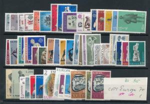 Thema-EUROPA  1974   Lot  **   (zu915  ) siehe scan
