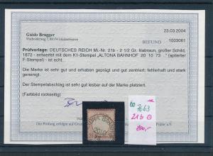 D.Reich Nr. 21 b  o    (oo7663  ) siehe scan