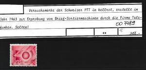 Schweiz Probedruck  **  (oo7789  ) siehe scan
