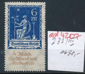 D.-Reich Nr. 233  III   **   (ed4207  ) siehe scan