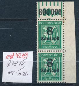 D.-Reich Nr. 278 IV    **   (ed4219  ) siehe scan