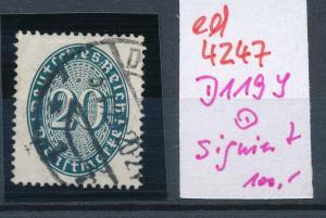 D.-Reich Nr. D 119 y   o    (ed4247 ) siehe scan