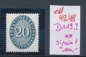 D.-Reich Nr. D 119 y   **    (ed4248 ) siehe scan