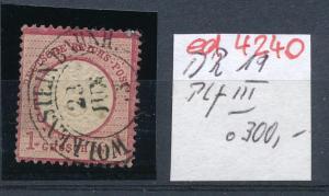 D.-Reich  Nr. 19  III   o   (ed4240 ) siehe scan