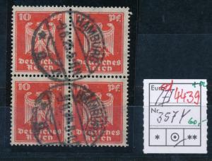 D.-Reich Nr. 4x 357 Y  o  (ed 4439  ) siehe scan