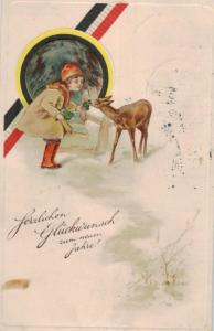 Motiv- Neujahr Präge   ....-alte Karte     (ke1357  ) siehe scan