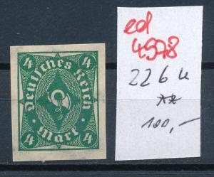 D.-Reich Nr.  226 U  **   (ed4978  ) siehe scan