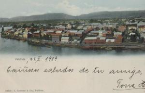 Valdiva - alte Karte.....   (ka9247  ) siehe scan