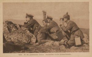 Mazedonien-D.-Militär  ...nette alte Karte (ka9627 ) siehe scan !