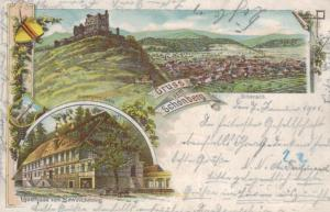 Schönberg   - alte Litho  Karte     (ke2837   ) siehe scan