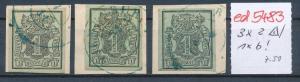 Hannover 3 Werte auf kleinem Briefstück      (ede5483  ) siehe scan