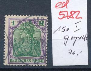 D.-Reich Nr. 150 I  geprüft  o    (ed5782  ) siehe scan