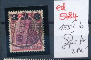 D.-Reich Nr. 155 b I  geprüft  o    (ed5784 ) siehe scan