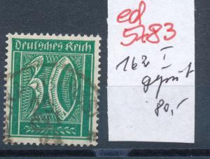 D.-Reich Nr. 162 I  geprüft  o    (ed5783  ) siehe scan