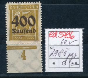 D.-Reich Nr. 298 II   signiert  (ed5796  ) siehe scan