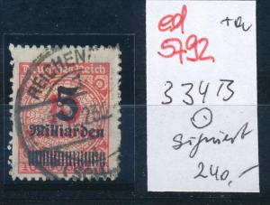 D.-Reich Nr. 334 B   geprüft  o     (ed5792 ) siehe scan