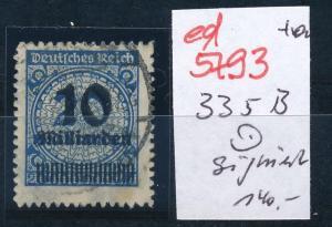 D.-Reich Nr. 335 B   geprüft  o     (ed5793  ) siehe scan
