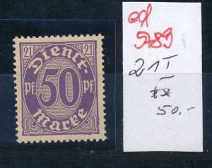 D.-Reich Nr. D 21 I **    (ed5789 ) siehe scan