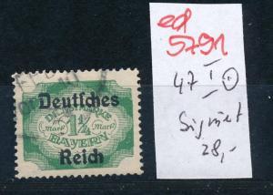 D.-Reich Nr. D 47  I o     (ed5791 ) siehe scan