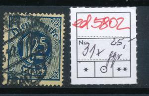 D.-Reich Nr. D  31x     signiert  (ed5802  ) siehe scan