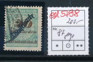 D.-Reich Nr. D  87     signiert  (ed5798  ) siehe scan