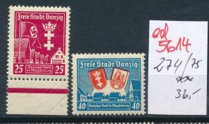 Danzig Nr.   274-5  **   (ed5614   ) siehe scan