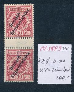 DSWA  Nr.7 ZS   ** UV- zinnober   (ed5889  ) siehe scan