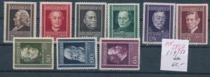 Österreich Nr. 649-57   **       (ed5864  ) siehe scan