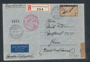 Schweiz Luftpost -Zensur  - Beleg........  (oo8912   ) siehe scan