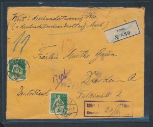 Schweiz  Wertbrief......  (zu1336   ) siehe scan