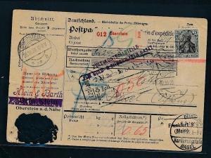 D.Reich  Paketkarte >CH  (zu1331   ) siehe scan