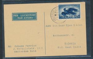 NL.  - alter Luftpost Beleg   (oo8757  ) siehe scan