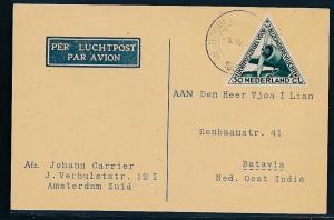 NL.  - alter Luftpost Beleg   (oo8758  ) siehe scan