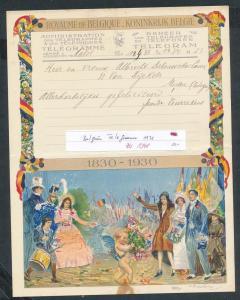 Belgien altes Telegramm....  (zu1348   ) siehe scan