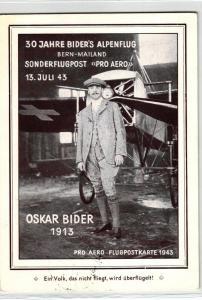 Schweiz nette Flugkarte  .. (ke6191  ) siehe scan