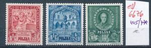 Polen Nr. 445/47 *  (ed6676  ) siehe scan