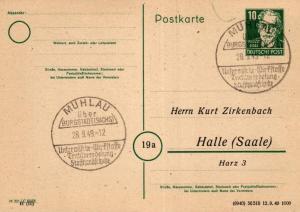 SBZ/DDR -Sonderstempel Karte.... Heimat Beleg (ke8104  ) siehe scan