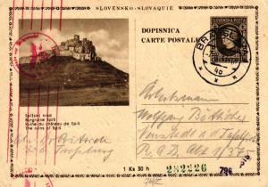 Slowakei Zensur  alte Ganzsache    .... (ke6559   ) siehe scan