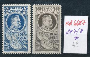 Polen Nr. 287-88*  (ed6687  ) siehe scan