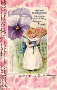 Geburtstag Präge ...alte Karte ....  .. (ke6143  ) siehe scan