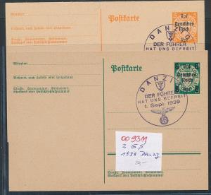 Danzig  Ganzsachen Lot   (oo9311  ) siehe scan