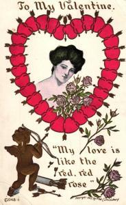 Valentins day  ..-alte Karte ....  ( ke5867  ) siehe scan