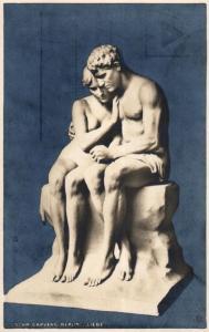 Skulptur..-alte Karte ....  ( ke5841  ) siehe scan
