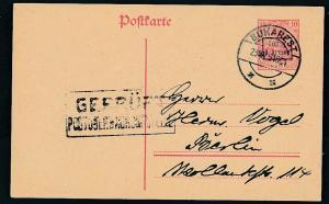 D.-Reich -Rumänien  P1  Ganzsache Zensur Stempel   (oo9502  ) siehe scan
