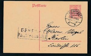 D.-Reich -Rumänien  P1  Ganzsache Zensur Stempel   (oo9501  ) siehe scan