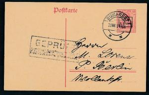 D.-Reich -Rumänien  P1  Ganzsache Zensur Stempel   (oo9499  ) siehe scan