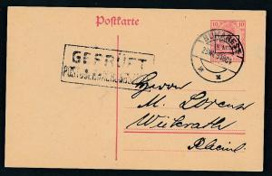 D.-Reich -Rumänien  P1  Ganzsache Zensur Stempel   (oo9493  ) siehe scan